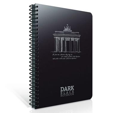 Gıpta Dark A4 Çizgisiz 50 Yaprak Siyah Defter Renkli